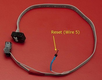 Modified ICSP programming cable